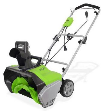 "$118.99 GreenWorks 2600502 13 Amp 20"" Corded Snow Thrower"