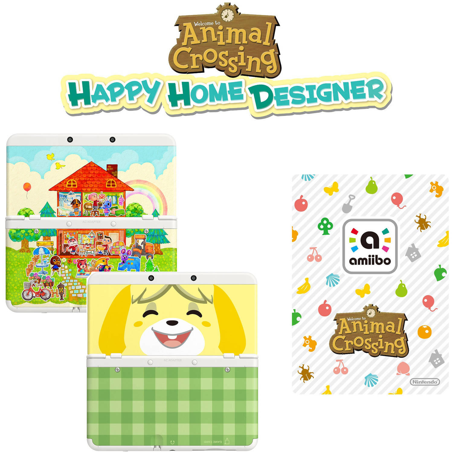 Nintendo New 3DS Handheld Animal Crossing Happy Home Designer Bundle