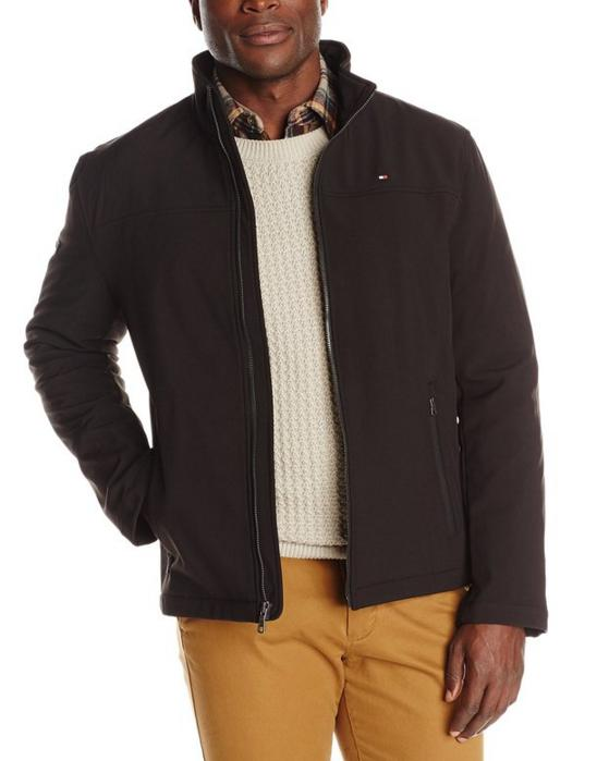 Tommy Hilfiger Men's Soft-Shell Classic Zip-Front Jacket