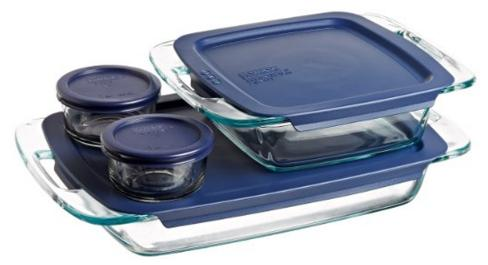 $14.59 Pyrex Easy Grab 8-Piece Glass Bakeware and Food Storage Set