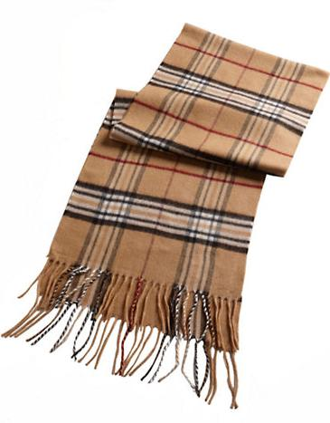 $26.88 BLACK BROWN 1826 Plaid Scarf @ Lord & Taylor