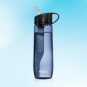 Brita Hard Sided Water Filter Bottle, Grey, 23.7 Ounces