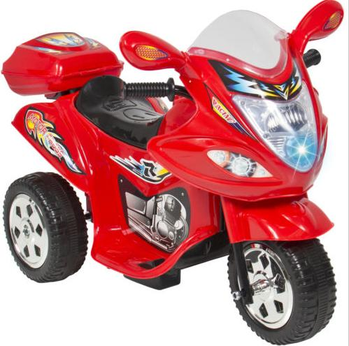 Kids Ride On Motorcycle 6V Toy Battery Powered Electric 3 Wheel Power Bicyle