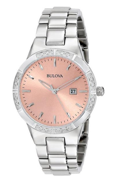 Bulova Women's 96R175 Diamond-Set Case Watch