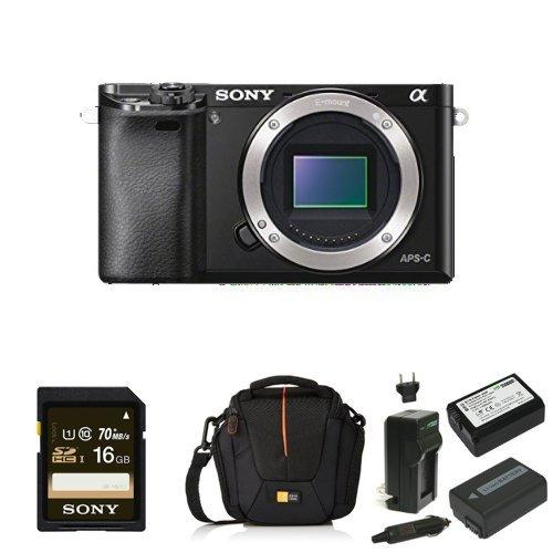 Sony Alpha a6000 Mirrorless Digital Camera Body only Deluxe Bundle