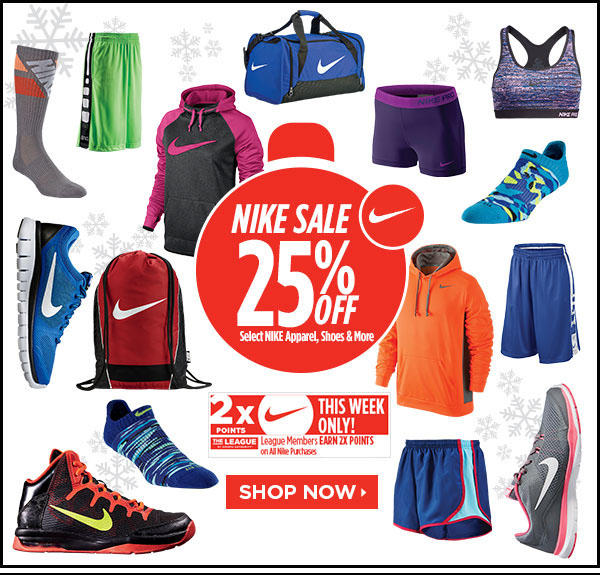 25% OffNike Saving Event @ Sports Authority