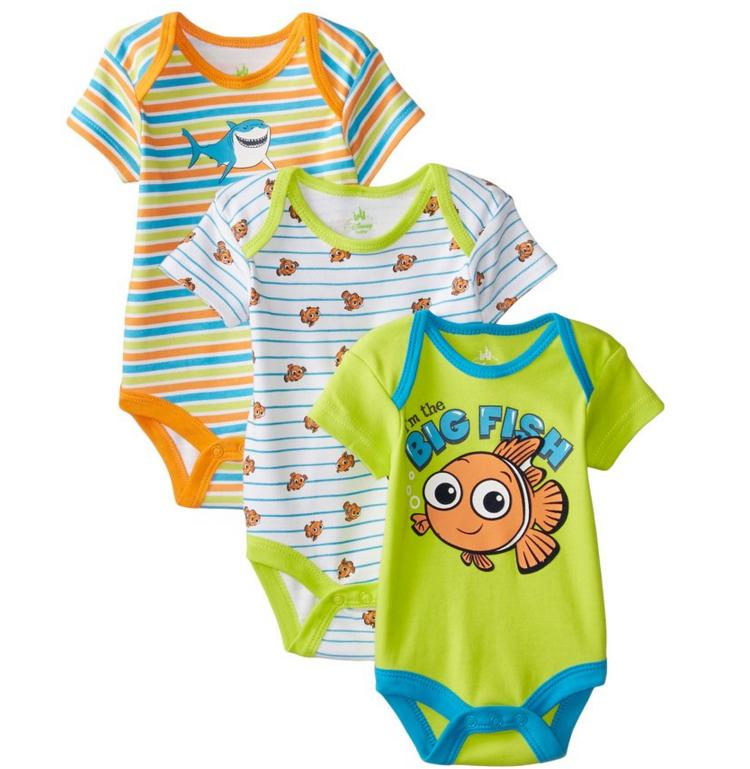 Disney Baby Boys' Nemo 3 Pack Bodysuit