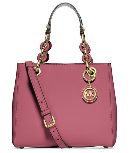 MICHAEL Michael Kors Cynthia Small North South Satchel On Sale @ macys.com