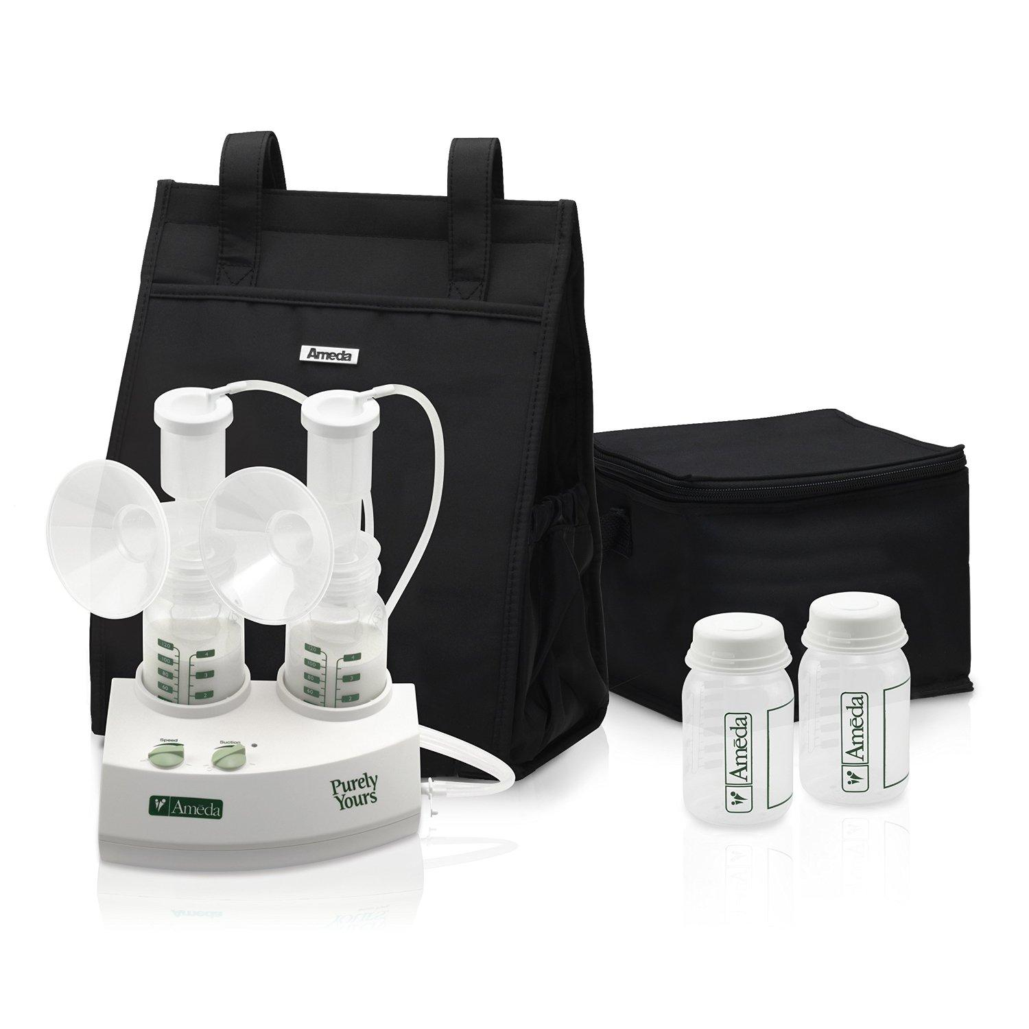 Ameda Purely Yours Double Electric Breast Pump, White
