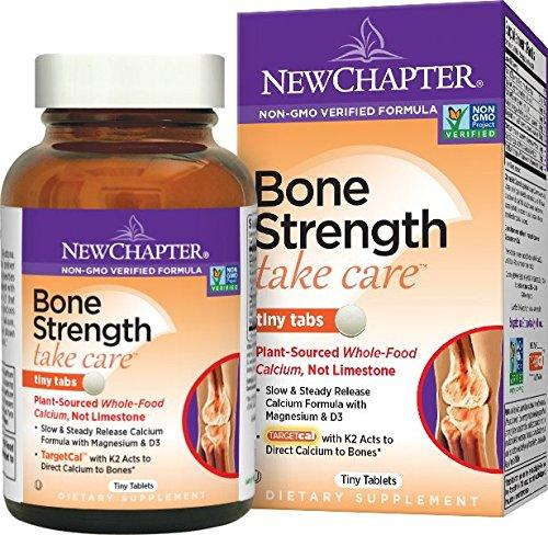 $14.97 New Chapter Bone Strength Calcium Supplement, Clinical Strength Plant Calcium with Vitamin D3 + Vitamin K2 + Magnesium - 120 ct Tiny Tabs