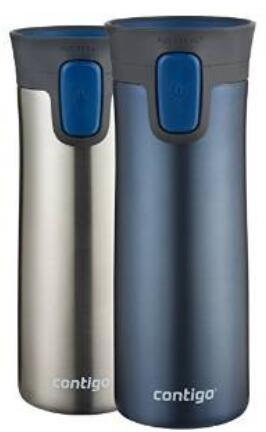 Contigo AUTOSEAL Pinnacle Vacuum-Insulated Stainless Steel Travel Mug, 14-Ounce, Monaco, 2-Pack