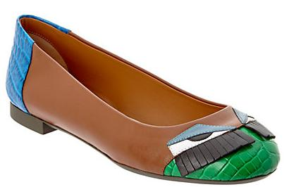 FENDI Monster Bug Leather Ballet Flat On Sale @ Rue La La