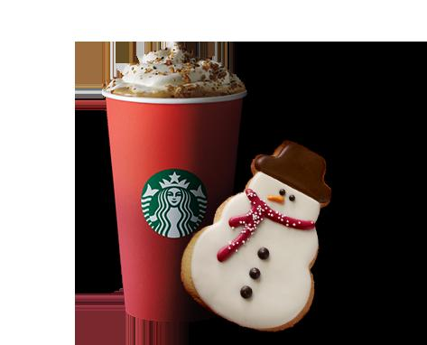 Free one holiday bakery item Any Holiday Drinks @ Starbucks