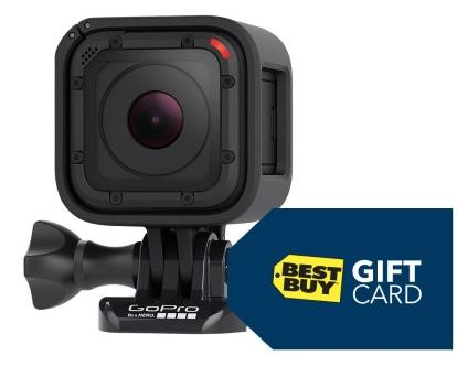 $299.99 GoPro HERO4 Session HD Waterproof Action Camera + Free $45 Gift Card