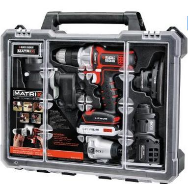 $149 Black & Decker BDCDMT1206KITC Matrix 6 Tool Combo Kit with Case