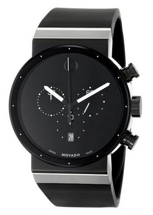 Movado Men's 0606501 Sapphire Synergy Stainless Steel Watch with Black Rubber Band