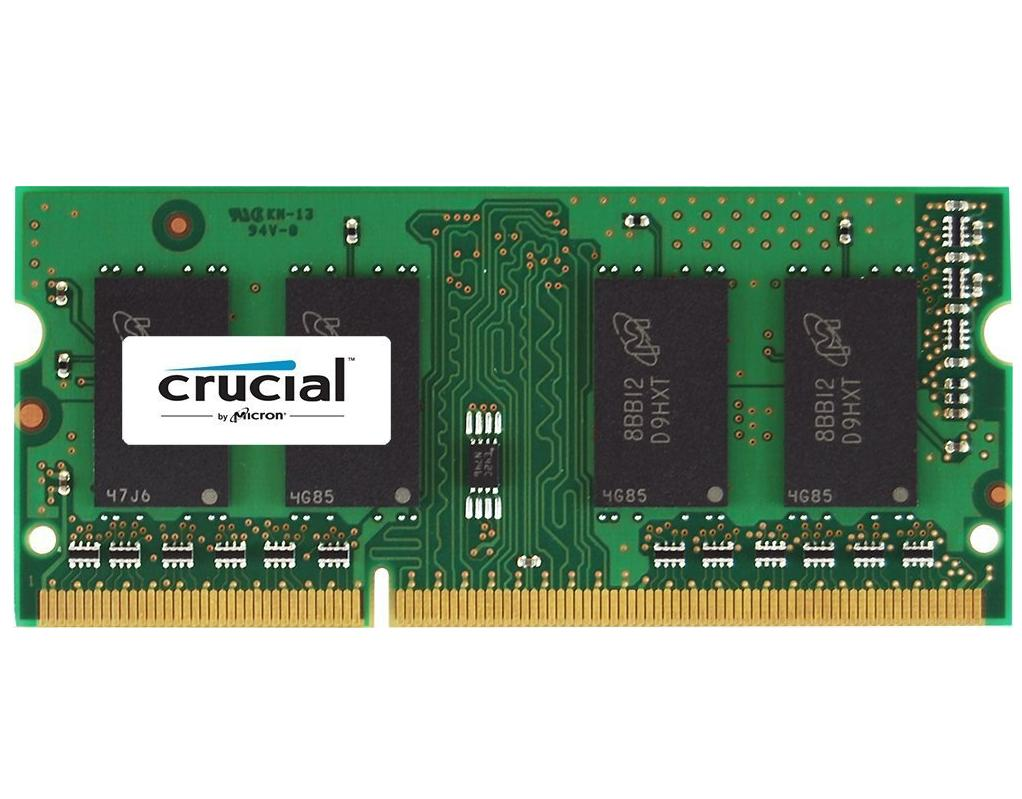 $34.99 Crucial 8GB Single DDR3 1600 MT/s (PC3-12800) CL11 SODIMM 204-Pin 1.35V/1.5V Notebook Memory CT102464BF160B