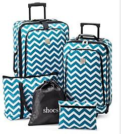 "$39.97+Free Shipping Ciao® 20"" Hard Side Carry-On, Relativity® 5-pc. Luggage Set or Jessica Simpson Tote/Duffel @ Bon-Ton"