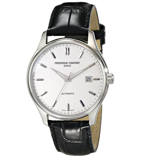 Frederique Constant Men's FC303S5B6 Index Analog Display Swiss Automatic Black