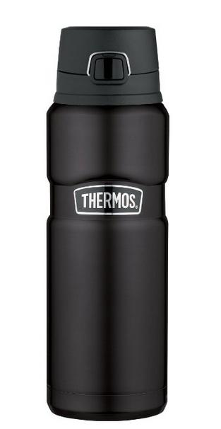 Thermos Stainless Steel King 24 Ounce Drink Bottle, Matte Black