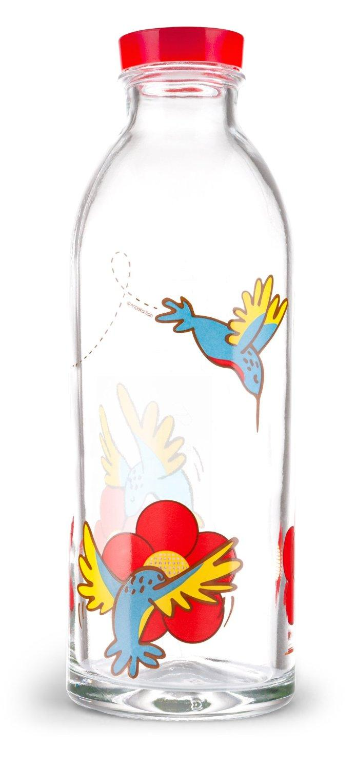 $5.98 Hummingbird Feeder Reusable Glass Water Bottle By Faucet Face, 14.4 Oz.