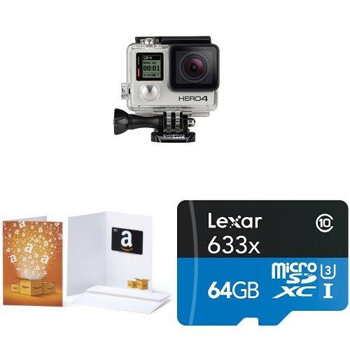$399 GoPro HERO4 SILVER w/ $80 Amazon Gift Card & 64GB SD Card
