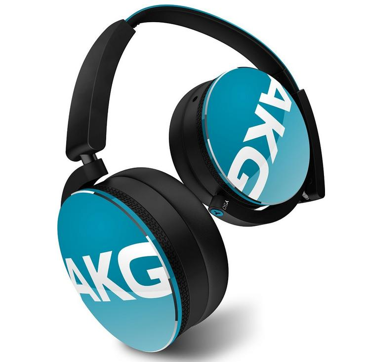 AKG Y50 Teal On-Ear Headphone with In-Line One-Button Universal Remote/Microphone, Teal
