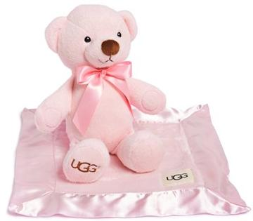 UGG® Australia 'Baby Snuggle' Bear & Blankie Gift Set (Baby) On Sale @ Nordstrom