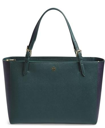 Tory Burch 'York' Colorblock Buckle Tote @ Nordstrom