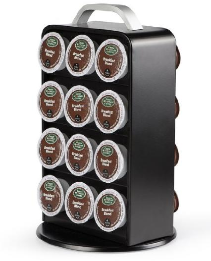Oak Leaf 24K Cup Holder Coffee Carousel Storage for Keurig K-cup
