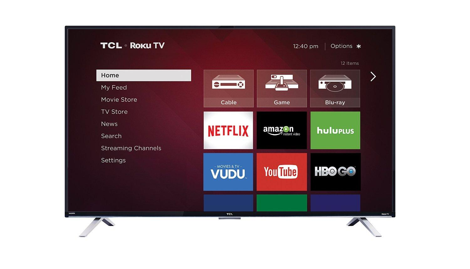 TCL 55FS3850 55-Inch 1080p Roku Smart LED TV (2015 Model)