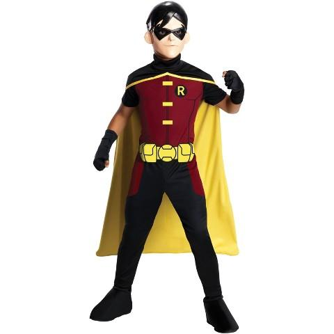 Boy's Young Justice - Robin Costume, S(4-6)