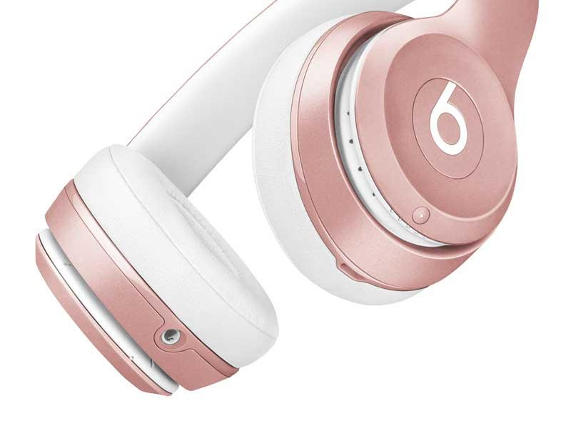 Free 2-Day Shipping Beats Solo2 Wireless On-Ear Headphones - Rose Gold