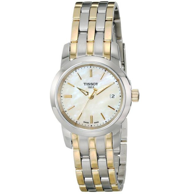 Lowest price! Tissot Women's T0332102211100 Analog Display Quartz Two Tone Watch