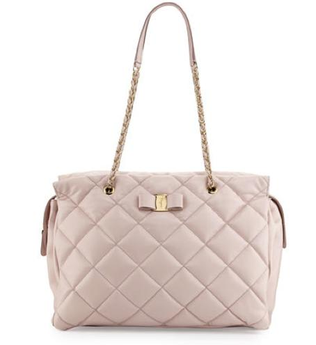 Salvatore Ferragamo Ginette Vara Quilted Leather Shoulder Bag @ Neiman Marcus