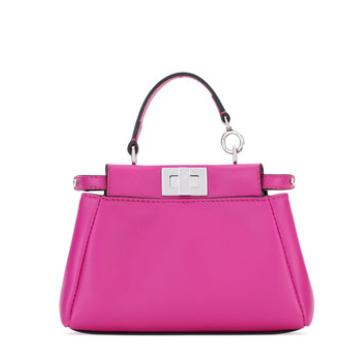 Fendi Peekaboo Micro Leather Satchel Bag @ Bergdorf Goodman
