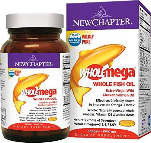 New Chapter Wholemega, Whole Fish Oil with Omega-3 + Vitamin D3 + Astaxanthin - 120 ct
