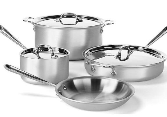 All-Clad 700393 Master Chef 2 MC2 Stainless Steel 7-Piece Tri-Ply Bonded Cookware Set
