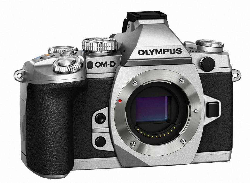 $949 Olympus OM-D E-M1 16MP Mirrorless Digital Camera with 3-Inch LCD (Body Only) (Silver w/ Black Trim)