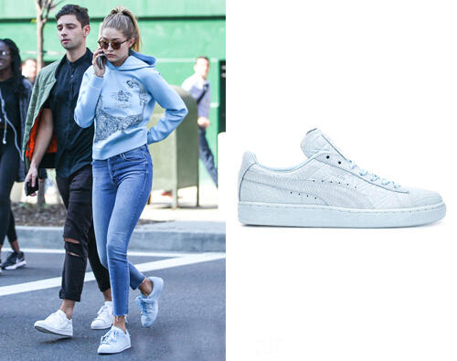 $63 Solange Suede Classic Triangles Women's Sneakers