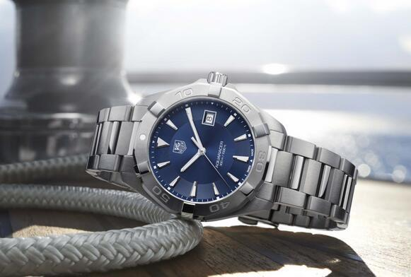 $1325 Tag Heuer Aquaracer Automatic Blue Dial Steel Men's Watch WAY2112.BA0910
