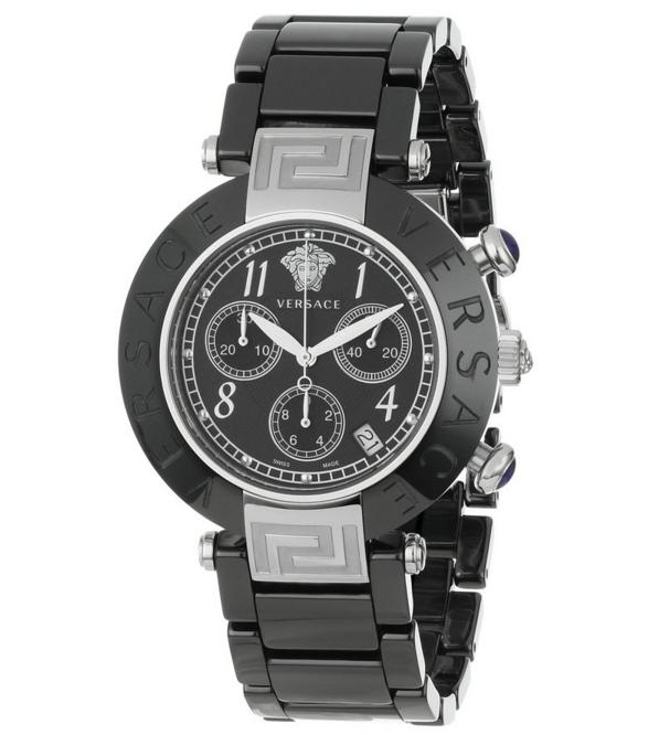 $539 Versace Women's 95CCS9D008 SC09 Reve Black Ceramic Chronograph Watch