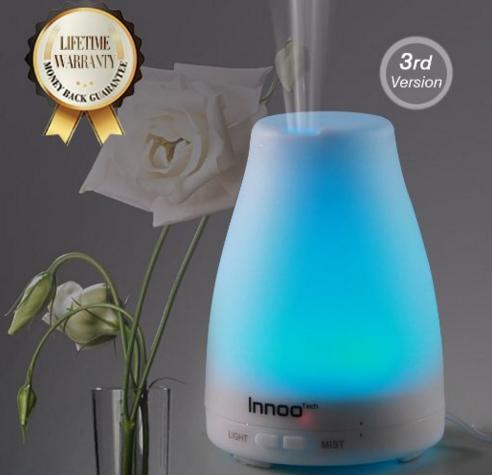 Essential Oil Diffuser, 3rd Version Cool Mist Aroma Humidifier Aromatherapy eBooks Included with Adjustable Mist Mode Waterless Auto Shut-off and 7 Color LED Lights