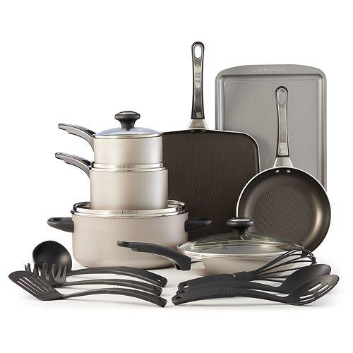 $39.49 + $15 Kohl's Cash Farberware High Performance 17-pc. Nonstick Cookware Set - 3 Colors