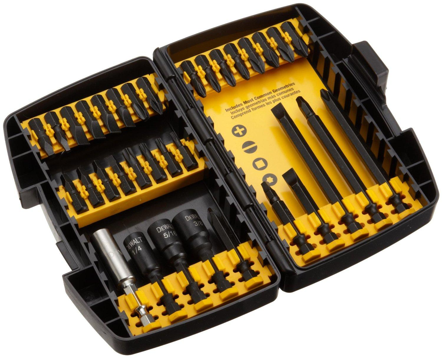 $9.99 DEWALT DW2153 IMPACT READY Accessory Set, 34-Piece