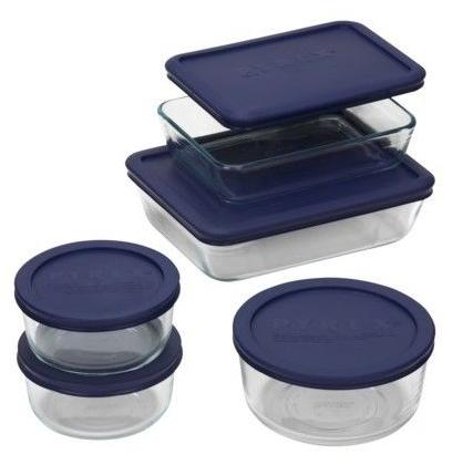 $10.08 Pyrex Storage Plus Set 10 pc Navy Blue