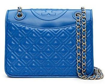 232.75 FLEMING PATENT MEDIUM BAG @ Tory Burch
