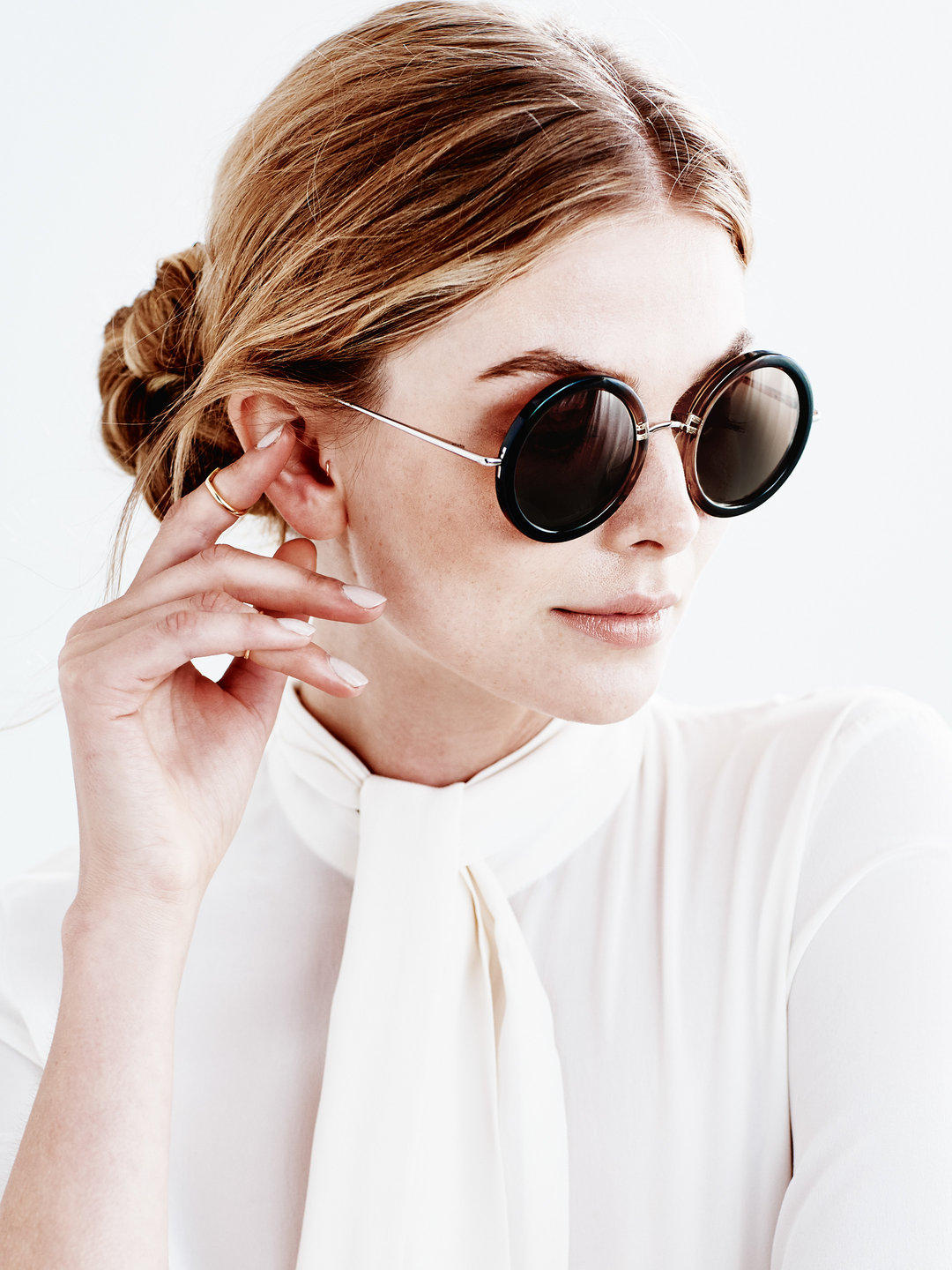 'The Row 8' Molasses Gradient Sunglasses @ Gilt