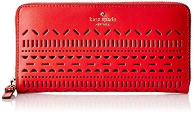 kate spade new york Lillian Court Lacey Wallet, Cherry Liqueur, One Size: Shoes