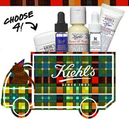 4 Deluxe Samples + Free Shipping on Any Order @ Kiehl's